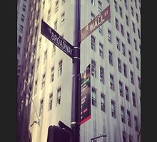 Broadway, Wall street  by coolq12