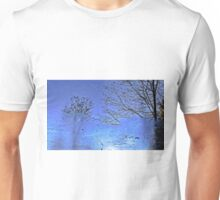 Reflections on a frozen pond Unisex T-Shirt
