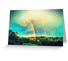 Double Rainbow Cards Greeting Card