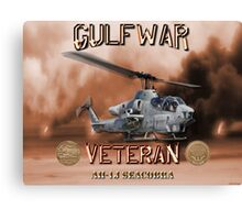 AH-1 Cobra Gulf War Veteran Canvas Print