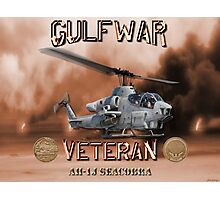 AH-1 Cobra Gulf War Veteran Photographic Print