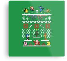 A Super Smash 8-Bit Christmas Metal Print