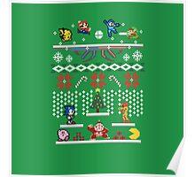 A Super Smash 8-Bit Christmas Poster