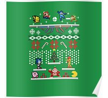 A Super Smash 8-Bit Christmas Poster