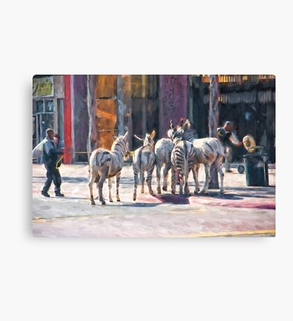 Faux Zebra's Canvas Print