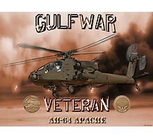 AH-64 Apache Gulf War Veteran Photographic Print