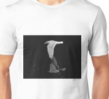 Bird in Flight over pond Unisex T-Shirt