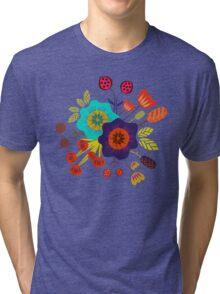 Magischer Nacht Garten Tri-blend T-Shirt