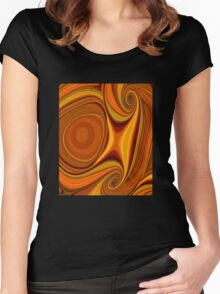 Citrus Kissed Crop Women's Fitted Scoop T-Shirt
