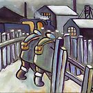 Winter coal mining scene (from my original acrylic) by sword