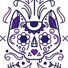 Sugar Skull Cat - Color by stcoraline