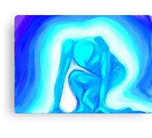 Crouching Power Canvas Print