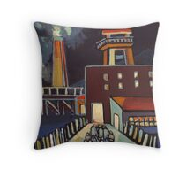 A colliery in the north east of England  Throw Pillow