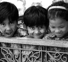 Burmese Children by chrisryan