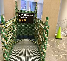Canstruction, Can Sculptures, New York City Subway Entrance, Brookfield Place, New York City  by lenspiro