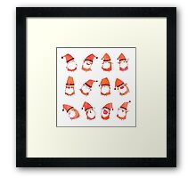 Happy Little Santas Framed Print