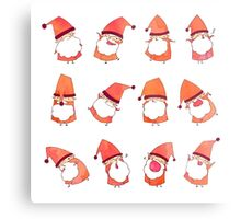 Happy Little Santas Metal Print