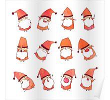 Happy Little Santas Poster