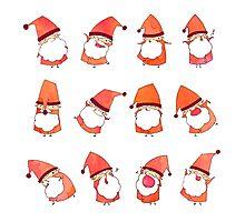 Happy Little Santas Photographic Print