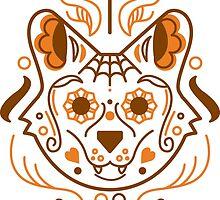 Sugar Skull Dog - Color by stcoraline