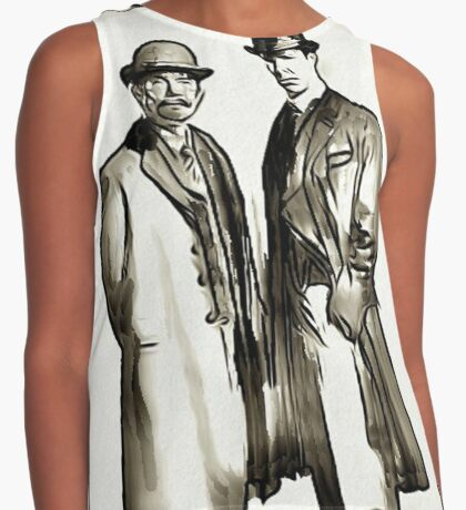 Sketchy Holmes and Watson Contrast Tank