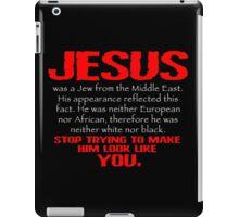Jesus Was a Jew - Red/White iPad Case/Skin