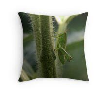 green hopper Throw Pillow