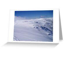 Falls Creek fresh snow Greeting Card