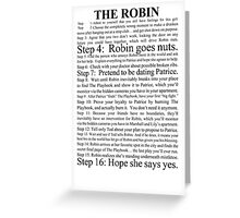 the robin Greeting Card