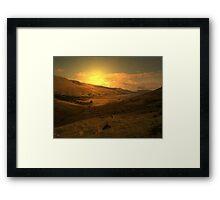 shepherds prayer Framed Print