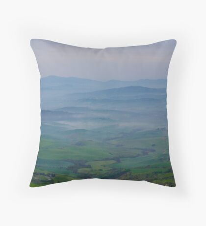 Mists over Tuscany Throw Pillow