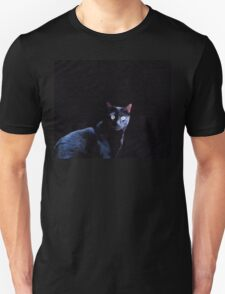Cat in Black Unisex T-Shirt