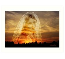 Laura ~ the Face in the Misty Light  Art Print