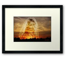 Laura ~ the Face in the Misty Light  Framed Print