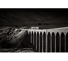 Evening local, Ribblehead, Yorkshire, England. Photographic Print