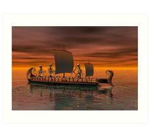 Ghost ship Art Print