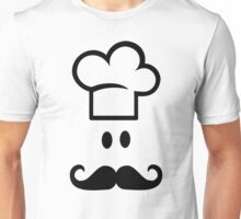 Chef cooking hat beard Unisex T-Shirt