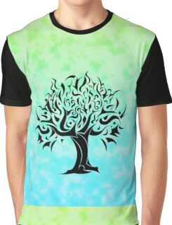 Cloudy Tree of Life Graphic T-Shirt