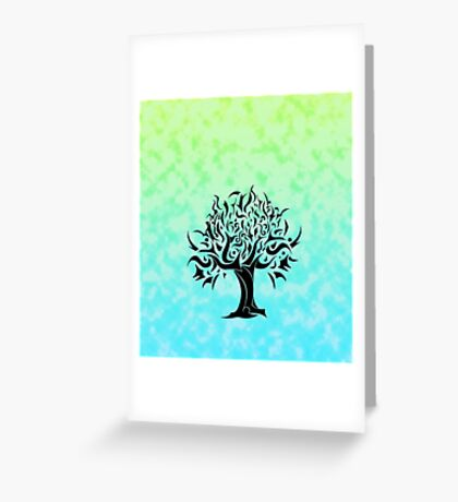 Cloudy Tree of Life Greeting Card
