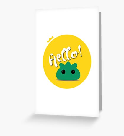The Hello guy :) Greeting Card