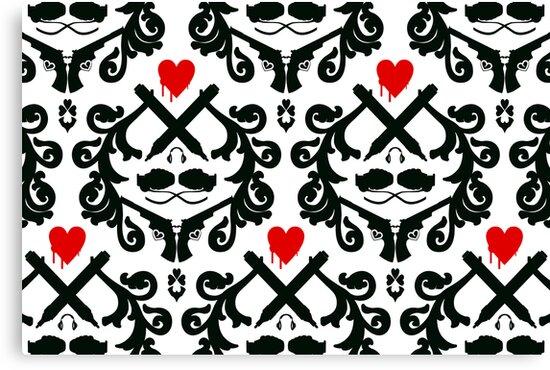 Love Retro Wallpaper by Plastica Tees
