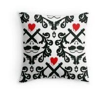 Love Retro Wallpaper Throw Pillow