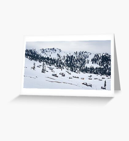 Snowy Village Greeting Card