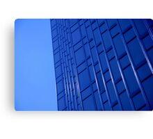 Bold Blue Office Canvas Print