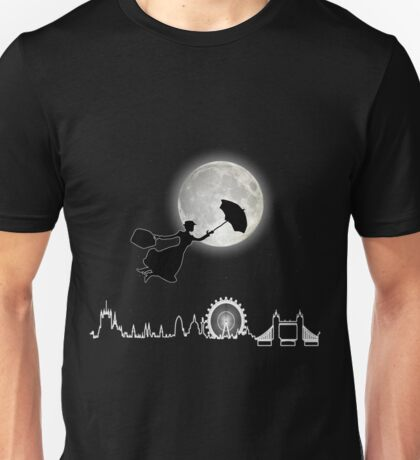 Magical Nanny Over London - neon light Unisex T-Shirt