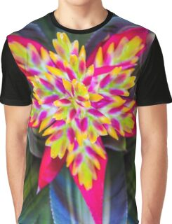 Bromeliad impersonating a rainbow Graphic T-Shirt