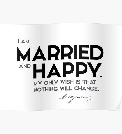 married and happy - alexander pushkin Poster