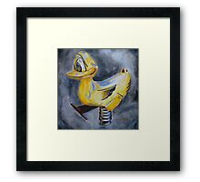 Springy Duck  Framed Print