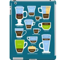Espresso-Based Drinks Guide iPad Case/Skin