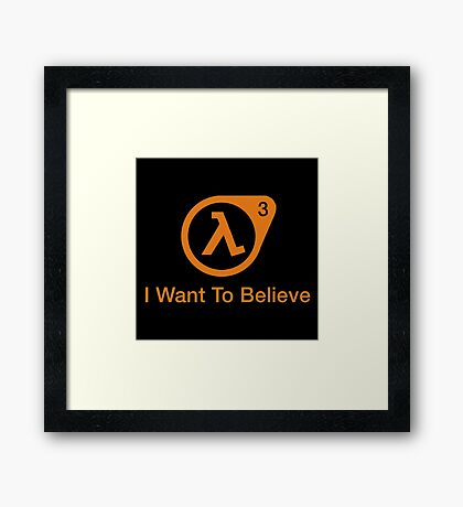 I Want To Believe Merchandise Framed Print